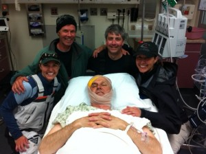 """FrankenStig"" with friends in the ER after the races"